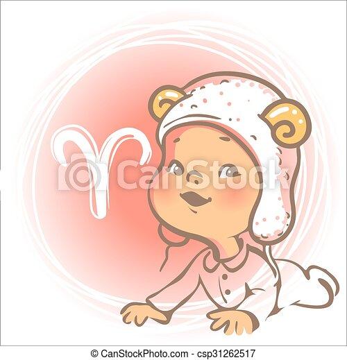 Baby zodiac. Aries - csp31262517