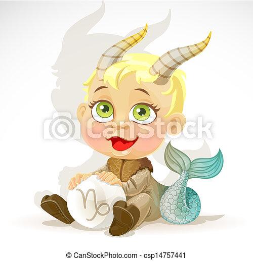 Baby zodiac - sign Capricorn - csp14757441