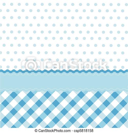 Leichtes blaues Babymuster - csp5818158
