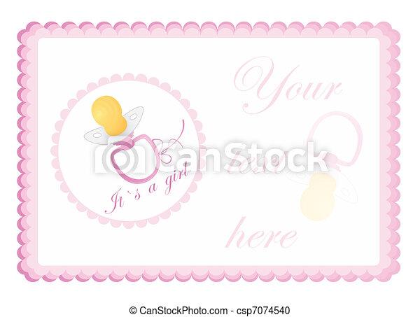 baby`s, グリーティングカード - csp7074540