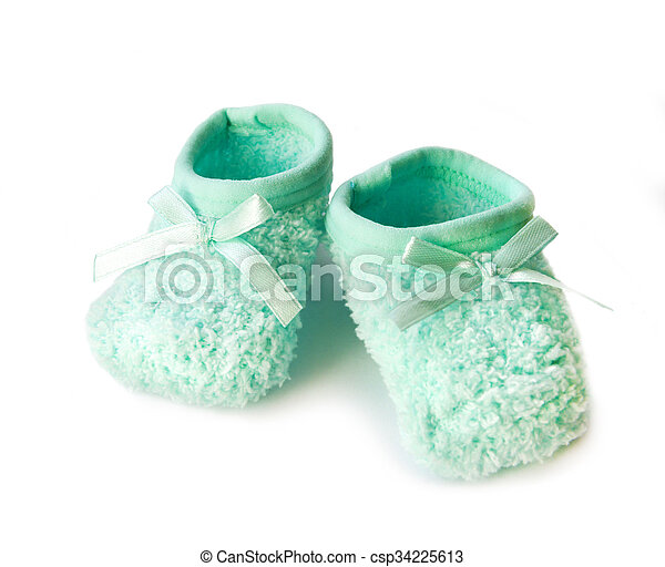 Baby's bootees - csp34225613
