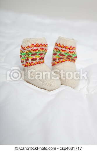 Baby's bootees - csp4681717