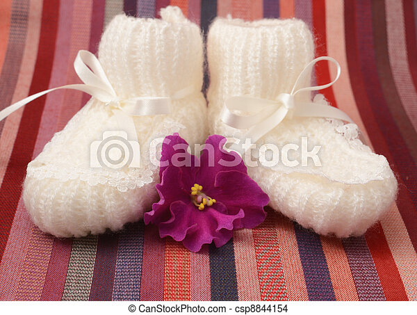 baby's bootees - csp8844154