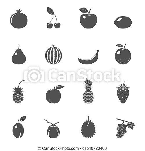 bacche, frutte, set, vettore, icone - csp40720400