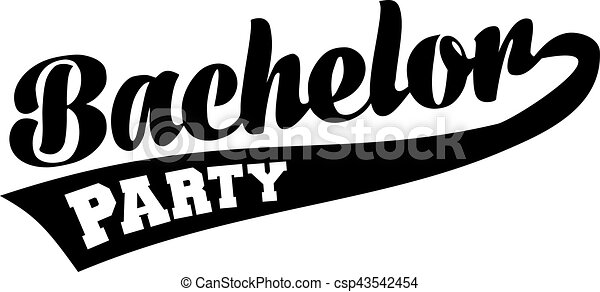 Bachelor party retro font - csp43542454