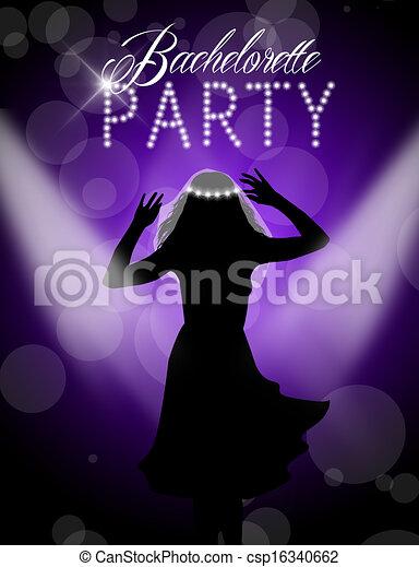 Bachelorette Party Stock Illustration