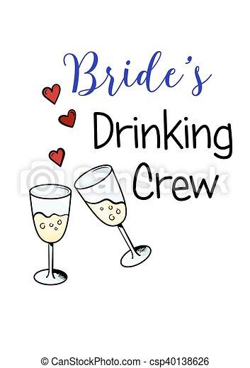 bachelorette party template bridal shower print on t shirt csp40138626