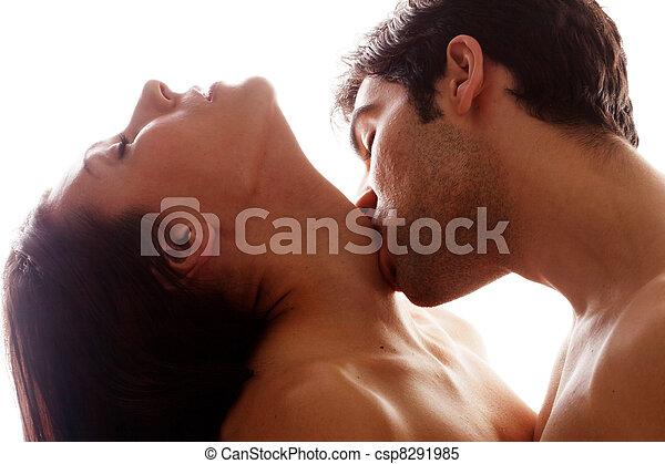 bacio, gola, romantico - csp8291985