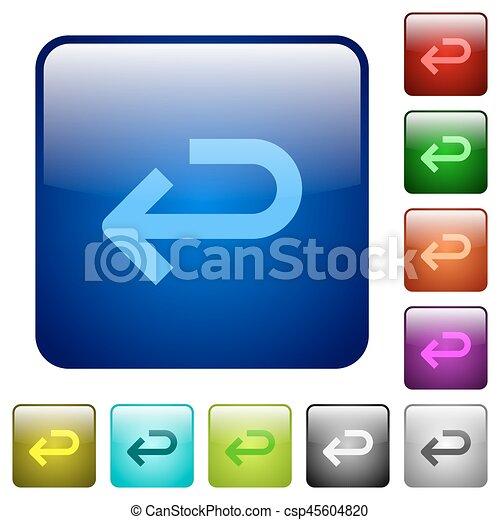 Back arrow color square buttons - csp45604820