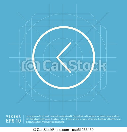 Back arrow icon - csp61266459