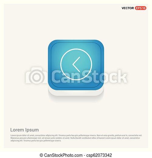 Back arrow icon - csp62073342