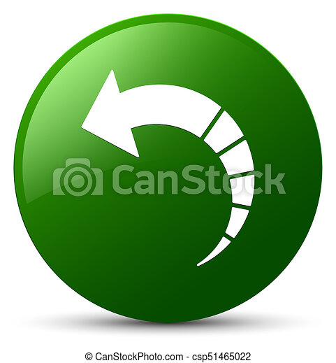 Back arrow icon green round button - csp51465022