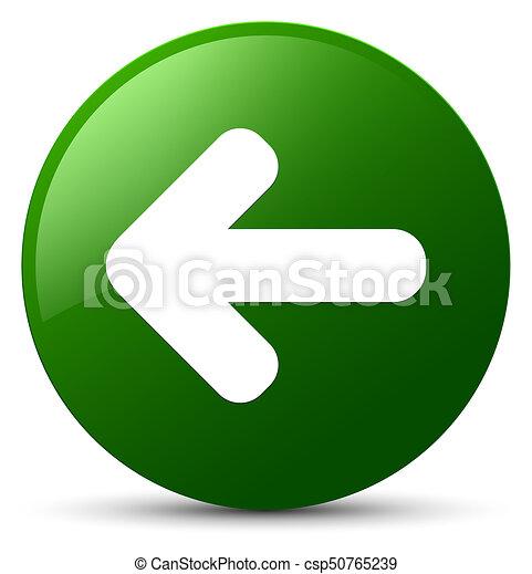 Back arrow icon green round button - csp50765239