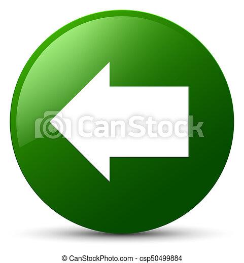 Back arrow icon green round button - csp50499884