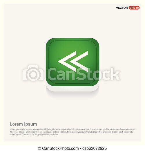 back arrow icon - csp62072925