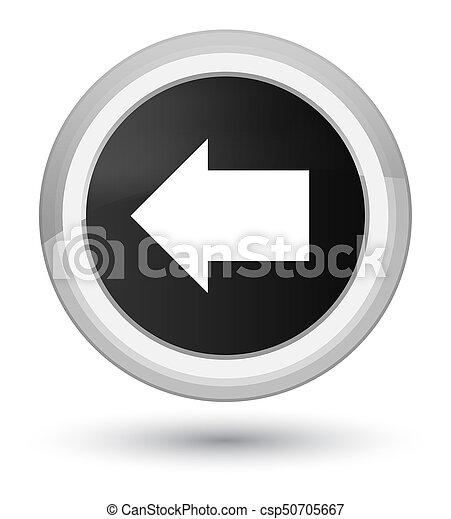Back arrow icon prime black round button - csp50705667