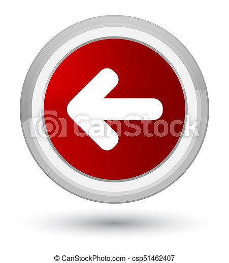 Back arrow icon prime red round button - csp51462407