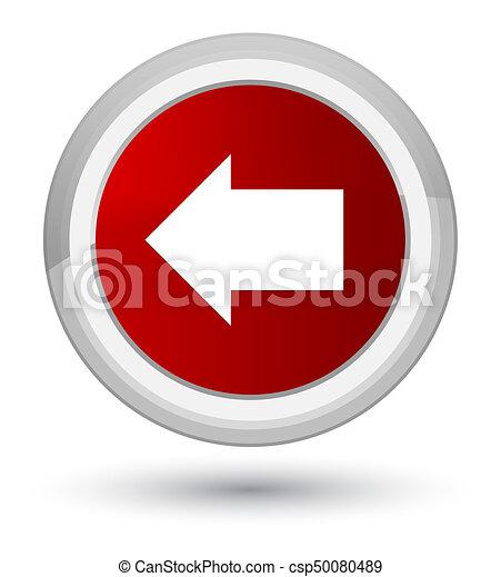 Back arrow icon prime red round button - csp50080489