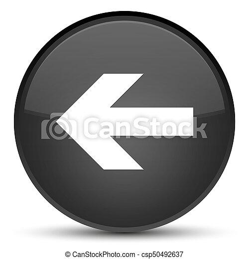 Back arrow icon special black round button - csp50492637