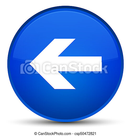 Back arrow icon special blue round button - csp50472821