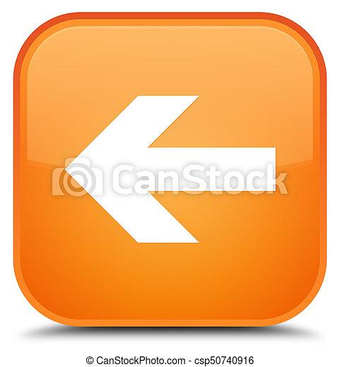 Back arrow icon special orange square button - csp50740916