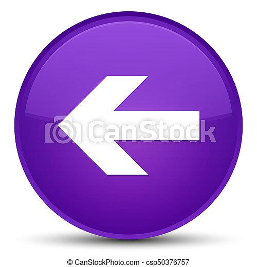 Back arrow icon special purple round button - csp50376757