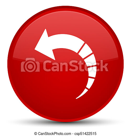 Back arrow icon special red round button - csp51422515