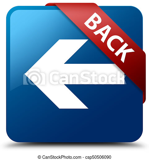 Back blue square button red ribbon in corner - csp50506090