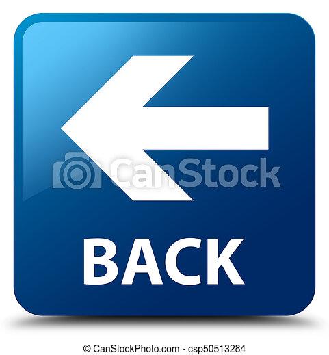 Back blue square button - csp50513284