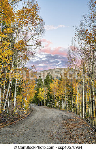 back country road in Colorado - csp40578964