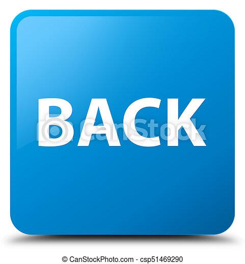 Back cyan blue square button - csp51469290