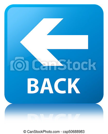 Back cyan blue square button - csp50688983
