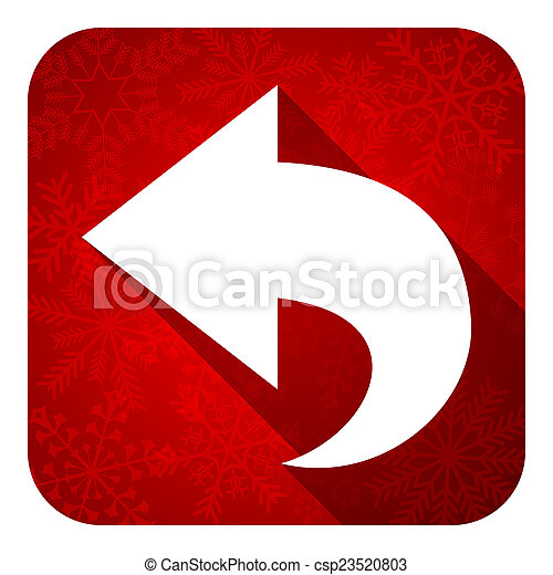 Christmas Arrow.Back Flat Icon Christmas Button Arrow Sign
