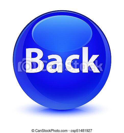 Back glassy blue round button - csp51481927