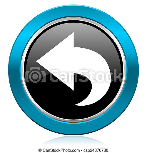 back glossy icon arrow sign - csp24376738