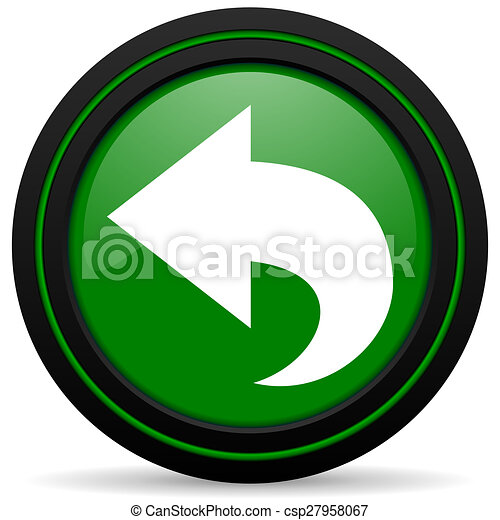 back green icon arrow sign - csp27958067