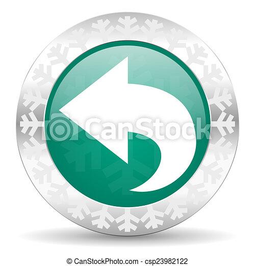 back green icon, christmas button, arrow sign - csp23982122