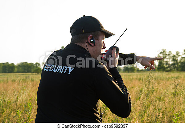back of a security guard - csp9592337