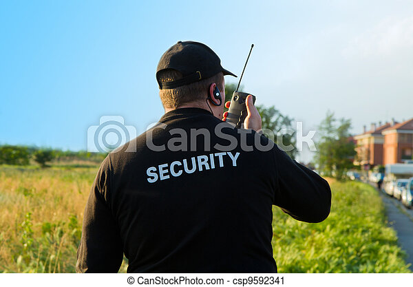 back of a security guard - csp9592341