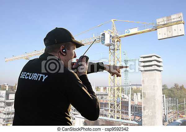 back of a security guard - csp9592342