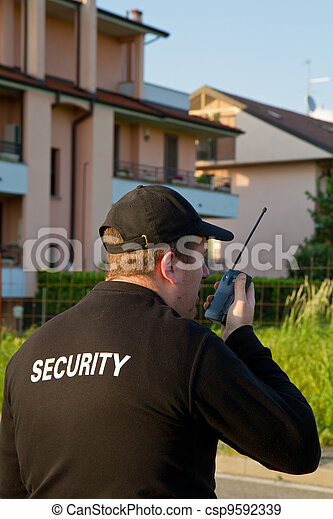 back of a security guard - csp9592339