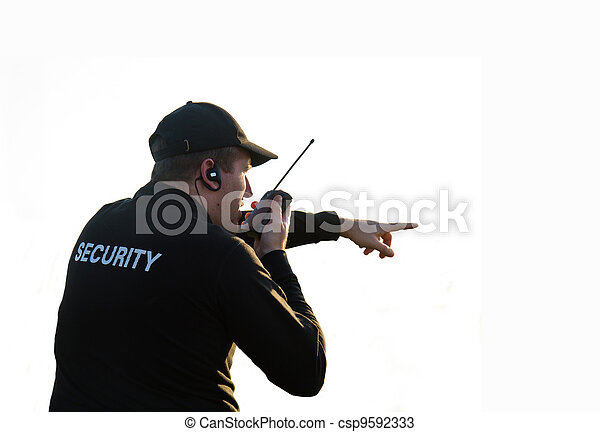 back of a security guard - csp9592333