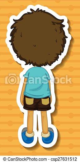 Back of boy - csp27631512