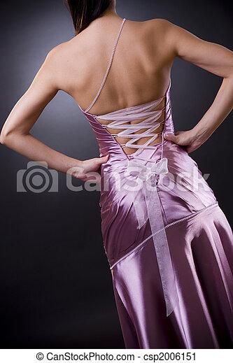 Evening Dress Back Side