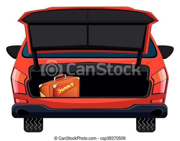 back of red car illustration vector clipart search illustration rh canstockphoto co uk Rear of Car Cartoon Clip Art Front of Car Clip Art