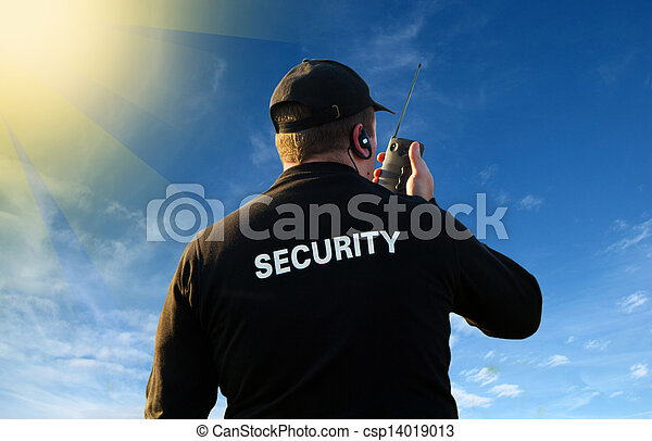 back of security guard         - csp14019013
