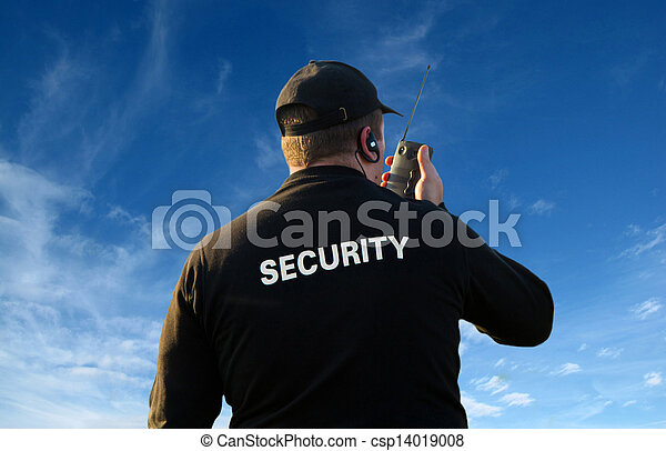 back of security guard              - csp14019008
