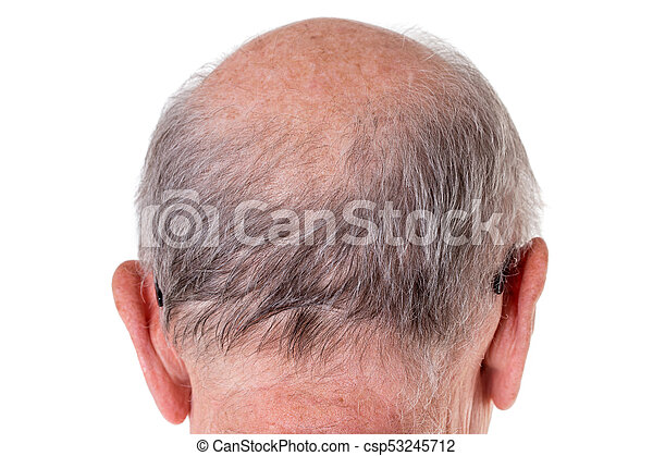 Back of the bald head of old man. - csp53245712