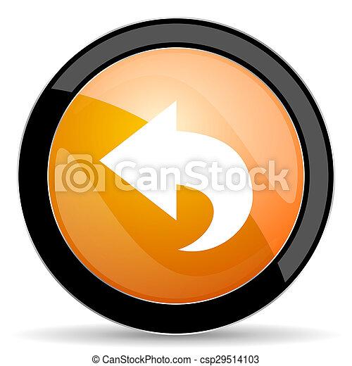 back orange icon arrow sign - csp29514103