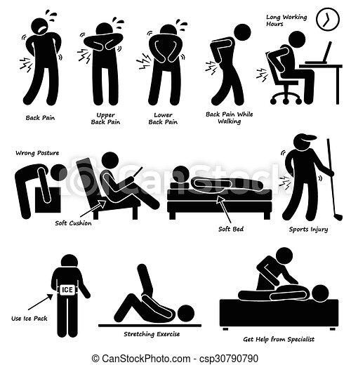 Back Pain Backache Pictogram - csp30790790